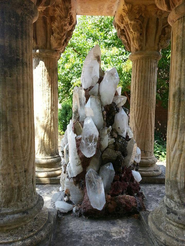 Quartz Cluster in the Chicago Botanical Gardens